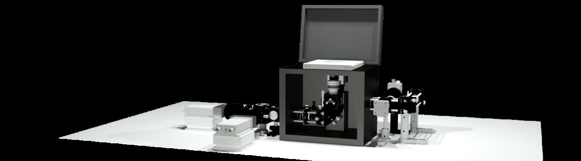 Confocal Single-Molecule FRET Microscope - CAD graphic
